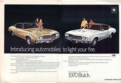 1970 Buick GS455 Skylark Sport Coupes Advertising Hot Rod Magazine October 1969 Stitched (SenseiAlan) Tags: hot 1969 sport magazine advertising buick october rod 1970 stitched skylark coupes gs455