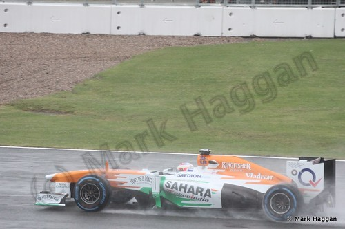 Paul Di Resta in Free Practice 1 for the 2013 British Grand Prix