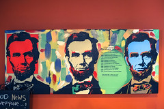 Lincoln's Success (ben.bibikov) Tags: painting downtown fuji boise lincoln fujifilm xe1 javacafe