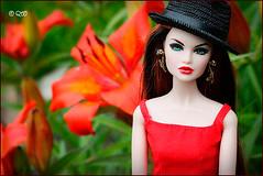 Nicole (astramaore) Tags: red orange beauty fashion toy high glamour doll erin blueeyes longhair redhead chic envy royalty fulllips fashionroyalty longstraighthair