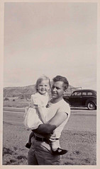 Guy, Girl & Car (Man of Yorkshire) Tags: bw guy film girl car 60s dad daughter photograph 50s