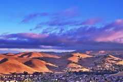 The Valley (!DK) Tags: morning houses summer sun nature sunrise outside hills valley hdr 2013