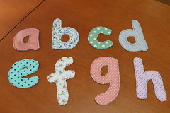 Sopa de letrinhas (ceciliamezzomo) Tags: handmade letters fabric letter abc preschool alphabet kindergarten prek patchwork letras tecido alfabeto