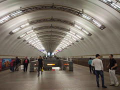Metro St Petersburg, Russia (ChihPing) Tags: travel stpetersburg metro russia petersburg olympus omd     em5