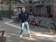 John Sinclair Amsterdam August 2013 (Iron Man Records) Tags: music shop birmingham detroit jazz freak poet mohawk writer beatnik mc5 beats freespirit johnsinclair ironmanrecords whitepanther freejohnsinclair