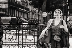 first cup of coffee in the morning (Gerard Koopen) Tags: street people bw paris france coffee nikon ledefrance candid streetphotography frankrijk parijs streetshot straatfotografie 2013 lorettemartyrs 70200mm28ii firstcupofcoffeeinthemorning