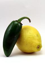 Lemon/Jalapeno (KyleDunne) Tags: lighting food vegetables fruit canon 50mm lemon stock jalapeno stockphotography productphotography stillphotography canont4i