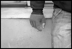 smoking hand (sasha diamanti) Tags: hand cigarette working smoking glove brake