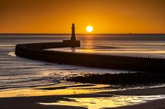 Roker Lighthouse, Sunderland (DM Allan) Tags: sunrise dawn northsea sunderland roker seaburn wearside wearmouth