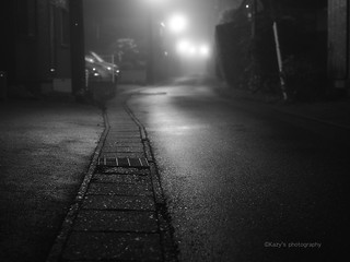 The middle of the night fog.