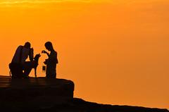 silhouette (Mariasme) Tags: silhouettes sunrise bondi orange pregamesweepwinner storybookwinner pregameduelwinner togetherness gamewinner gamex2winner gamex3sweepwinner 15challengeswinner relationships monochrome