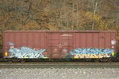 Rekd Kamit (This Car Excess Height) Tags: railroad art train bench graffiti culture railcar boxcar railfan freight tbv benching kamit