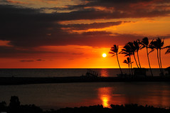 'Anaeho'omalu Beach, HI (fenicephoto) Tags: sunset hawaii bigisland