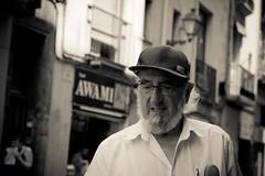 Barcelona people #1 (Aleksandar Kumanov Street | Travel | Fine Art |) Tags: barcelona street people blackandwhite bw canon 50mm prime photographer shot candid cap dslr aleksandar lenses kumanov