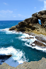 Big Blue (PCorreaPhotography) Tags: ocean blue summer sky beautiful landscape puerto rocks puertorico carribean sunny rico formations