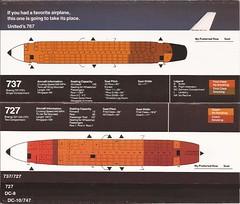 UAseatguideJUN82 04 (By Air, Land and Sea) Tags: ua unitedairlines airplane aircraft seats diagram seatingdiagrams seatingcharts