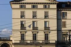 (Zioluc) Tags: lines architecture century facade torino wires piazza turin xix vittorio veneto frizzi luciobeltrami