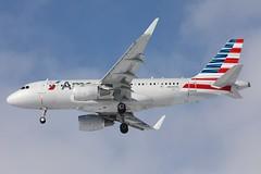 N5007E American A319-115 landing in KCLE (GeorgeM757) Tags: airplane airport aircraft aviation landing american airbus clevelandhopkins kcle a319115 alltypesoftransport georgem757sphotostream