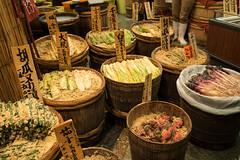 Japanese pickles shop (kasa51) Tags: japan kyoto 錦市場 ぬか漬け 漬物屋 picklesshop branpickles