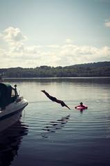 Sommar! (AChristiansdotter) Tags: summer woman man water swim 35mm nikon sweden dive värmland d90 fryken