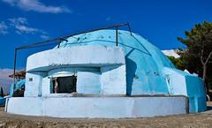 Bunker on the beach (Ardi Kule) Tags: blue summer sky beach seaside paint mediterranean military bunker balkans albania durres nikond7000 nikond7000afsdxnikkor18105mmf3556gedvr