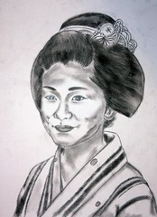 Beauty (GionGeiko (Fujiko)) Tags: drawings maiko geiko geisha gion fujiko zeichnungen satsuki