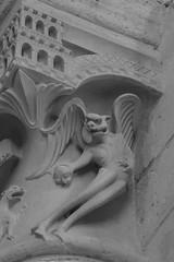 Plaimpied Abbey - Temptation of Christ Devil (Stan Parry) Tags: sculpture france centre capital medieval devil temptation middleages 2010 moyenage plaimpied canon5dii fall2010 plaimpiedabbey