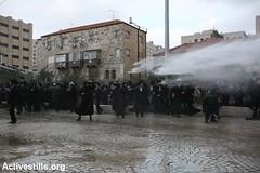 Anti draft protest, Jerusalem, 6.2.2014 (activestills) Tags: israel jerusalem israeliarmy topimages talimayer