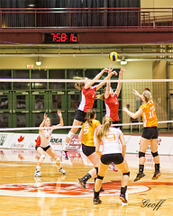 Sea-Hawks Volleyball (gwhiteway) Tags: canada sports canon newfoundland action 85mm stjohns seahawks nl f18 aus capers volleybal hawks feb8 mun memorialuniversity lsea cbu auaa