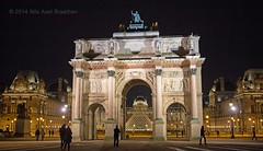 J77A0243 -- The triumph arch in front of the Louvre at night (Nils Axel Braathen) Tags: architecture noblearchitecture mygearandme ringexcellence photographyforrecreationeliteclub infinitexposure