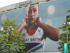 John Lewis, Sheffield July 2012 (Dave_Johnson) Tags: sheffield olympic adidas johnlewis olympicgames london2012 olympicgold teamgb jessicaennis jessennis jessicaennishill jessennishill