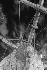 Pirate Ship, Beach Club Resort (myfrozenlife) Tags: trip travel vacation bw usa white holiday black night america canon orlando ship unitedstates florida disney pirate 7d wdw