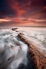 Hauxley (Alistair Bennett) Tags: seascape sunrise coast rocks northumberland amble druridgebay coquetisland hauxley nd12 canonef1740mm4lusm gnd075he hauxleyhaven