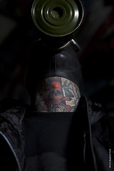 Benjamin Youd 2014 (Benjamin Youd Photography) Tags: world 2 portrait dark war moody mask blueeyes gas gasmask hiphop leake malemodel necktattoos musiciansportrait banksystunnel cityurbanlondon portraittattoostattooedtattoo knucklescityscapelondon streetlondonwaterloocanon5d5d mkiicolourcreepyartartisticsun flairlens flairgraffitiurban