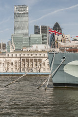 HMS Belfast (Robin Kiewiet) Tags: world uk bridge two france london tower english robin thames architecture germany army photography boat marine war gun ship patton britain united hitler wwii great kingdom belfast canadian roosevelt machinery american chur