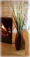 Spring Grasses by Hearth (dining delight) Tags: bunny birdcage fireplace ivy lantern candlesticks minilights heisrisen boxwoodwreath blackroundmirror |springmantel