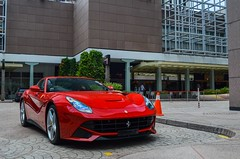 F12 On Standby (BLACKFOXPHOTOGRAPHY) Tags: red italian singapore flag fast ferrari supercars f12 berlinetta exoticars alexpenfold effspot v12khan sathyamelvani