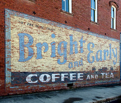 Ghost Sign (BOB WESTON) Tags: hicotexas brightandearlycoffee