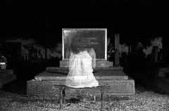 Spectre of Balatonszemes (brenkee) Tags: bw white black film girl cemetery night canon eos superia 5 ghost spectre 24105 fekete fehér temető szellem balatonszemes