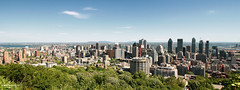 Montréal Cityscape (Québec, Canada) (Andrea Moscato) Tags: andreamoscato canada america view vista vivid overlook panorama belvedere cielo clouds city città cityscape architecture buildings skyscraper sky nuvole blue green downtown town trees day light