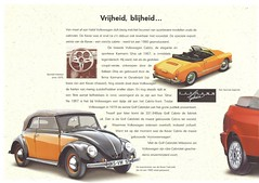 1997 VW Milestone Collection (Hugo-90) Tags: vw volkswagen k70 1500 kever cabriolet karmann ghia variant 1600l benpon ads advertising brochure catalog milestone