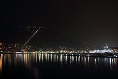 Como in notturna - Como by night (Bluesky71) Tags: como lagodicomo comolake lago lake brunate collina hill funicolare lombardia duomo cattedrale cathedral notte night