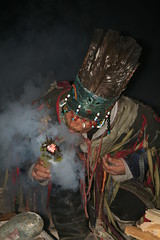 Shaman Setting Juniper Alight Kyzyl Tuva Replublic Russia Central Asia (eriagn) Tags: shaman belief feathers headdress leather garments textiles beads man male flame smoke juniper night nightshot shamanist centralasia siberia russia tuva tuvarepublic kyzyl ngairehart ngairelawson travel photography beading animisticshamanism animistic shamanism buddhism canon eos asia heartofasia southernsiberia