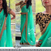 Turquoise Plain Georgette Sareee With Blouse Sarees on Shimply.com