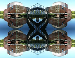 Zwolle, Theater de Spiegel [inspired by M.C. Esscher] (Reintje en Foekie) Tags: escher