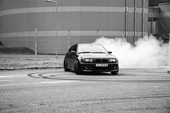 Drifting (WhiteShipDesign) Tags: automotive fast black white bmw racing performance track sports automobile motorsport m3 drifting side ways action