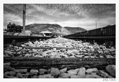 down the tracks (Aljaž Anžič Tuna) Tags: down tracks 261 261365 365 sky clouids traintracks train dof bokeh stones photo365 project365 ground onephotoaday onceaday old 35mm 365challenge 365project d800 dailyphoto day nikond800 nikkor nikkor85mm nice naturallight 85mmf18 f18 bw blackandwhite black blackwhite beautiful white monocrome monochrome