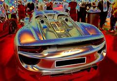 Psychedelic Porsche 918 Spyder hybrid sports car (Pete_Sy) Tags: psychedelic porsche918spyder digitallyaltered sportscar digital art