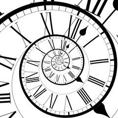 Roman Numerals Clock (ClaraDon) Tags: photoshop droste pixelbender clock romannumerals round spiral hands numerals helix