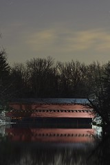 A night shot at Sachs Covered Bridge in Gettysburg, Pa (jkrieger84) Tags: nikon d500 landscape nature stars gettysburg sachs covered bridge tree reflection pa